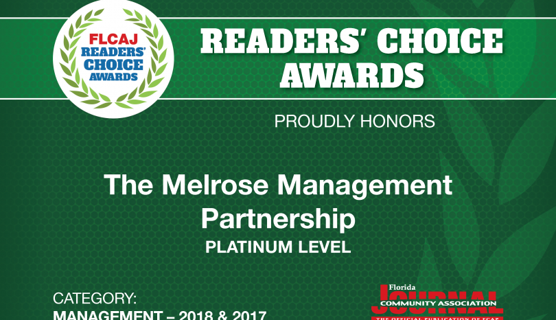Melrose Voted Platinum Level in the FLCAJ Readers' Choice Awards
