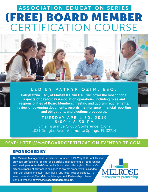 Board Member Certification Course